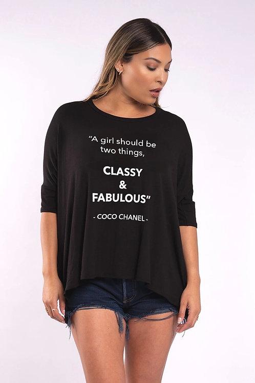 Classy & Fabulous   Tee Shirt
