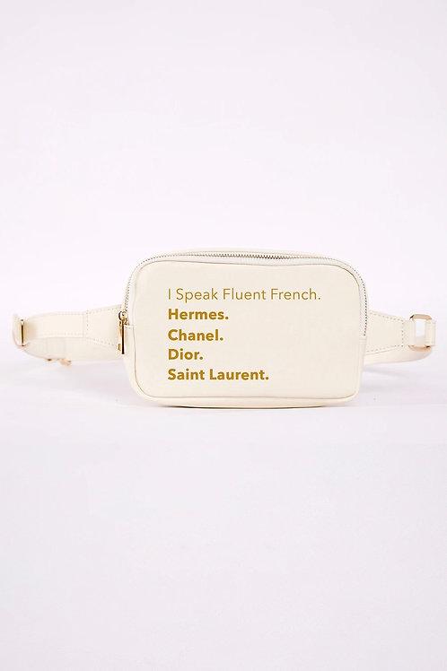 Fluent French Fanny Pack-White