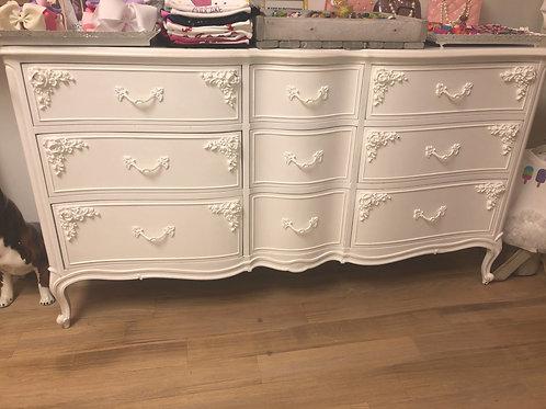 9 Drawer Vintage Dresser