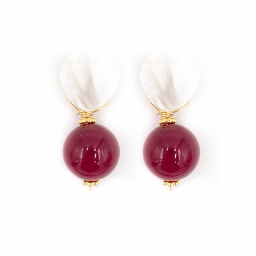 Merlot Colored Jade Earrings
