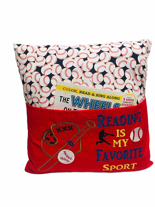 Baseball Book Pillow