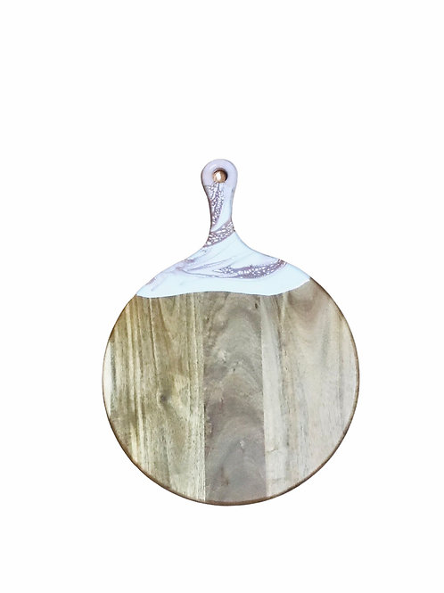 Round Cheeseboard -Rose Gold & White