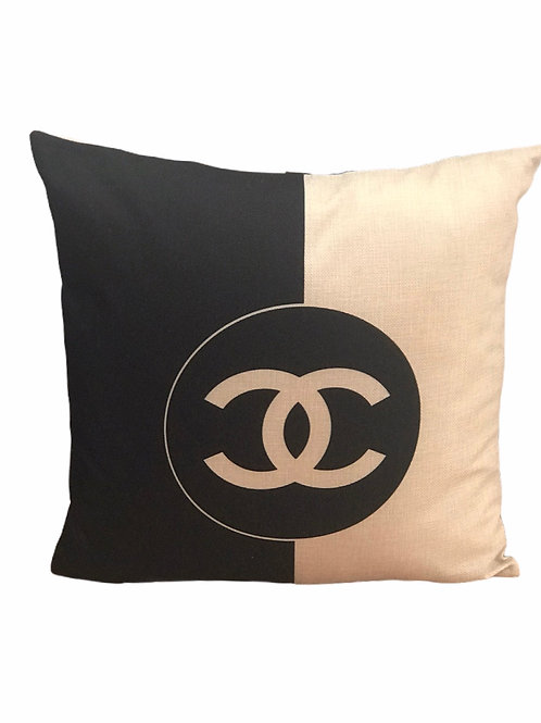 Black and White CC Pillow