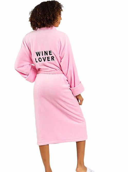 """Wine Lover"" - Pink Bathrobe"