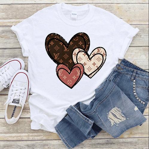 LV Hearts- Tee