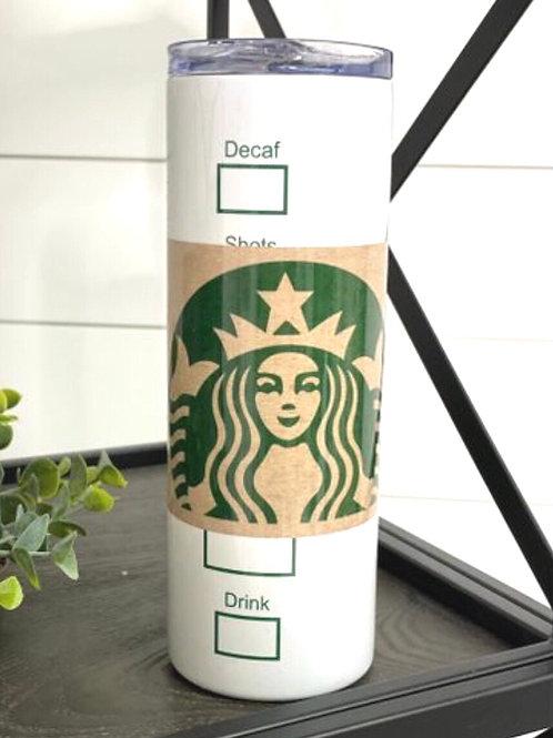 Starbucks Tumbler W/ Straw