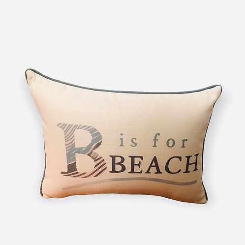 Pillow B is for Beach