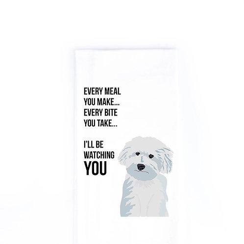 Bichon/ Poodle Dish Towel