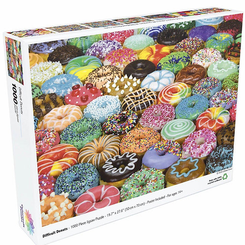 Difficult Donuts - 1000 Piece Jigsaw Puzzle