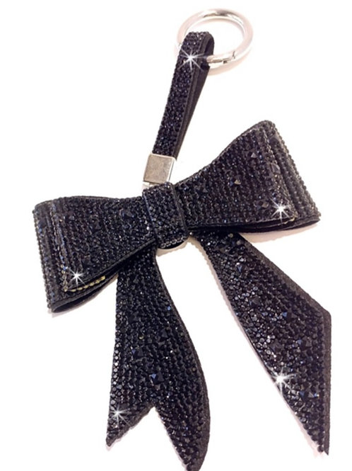 Bow Keychain/ Purse Charm Black