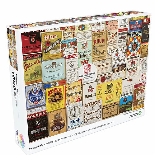 Vintage Drinks - 1000 Piece Jigsaw Puzzle