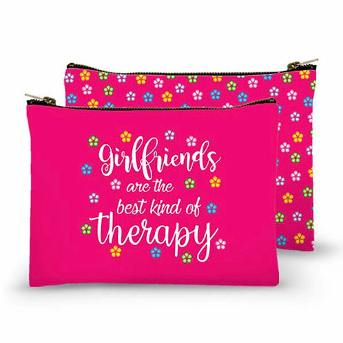 Zippered Bag - Girlfriends are the best kind of therapy