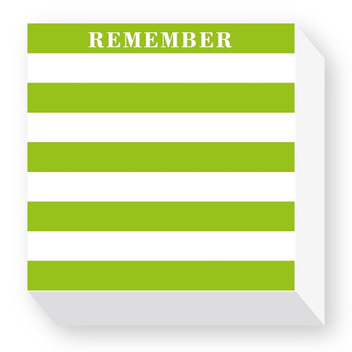 """Chubbie Notepads """"Remember"""""""