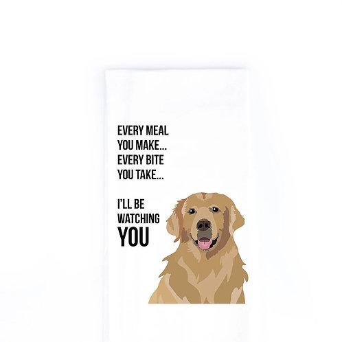Golden Retriever Dish Towel