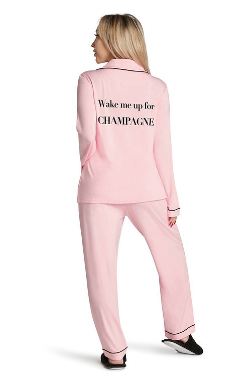 """Wake Me Up For Champagne"" Pajama Set"