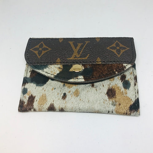 Card Holder With Upcycled LV