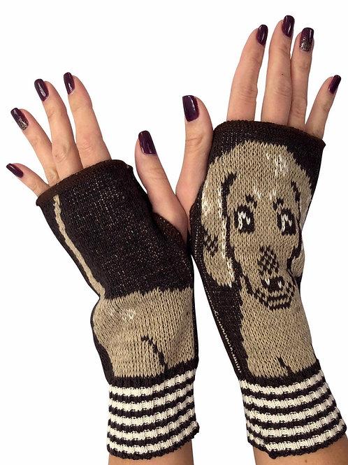 Women's Recycled Cotton Hand Warmer Fingerless Gloves -Daushand