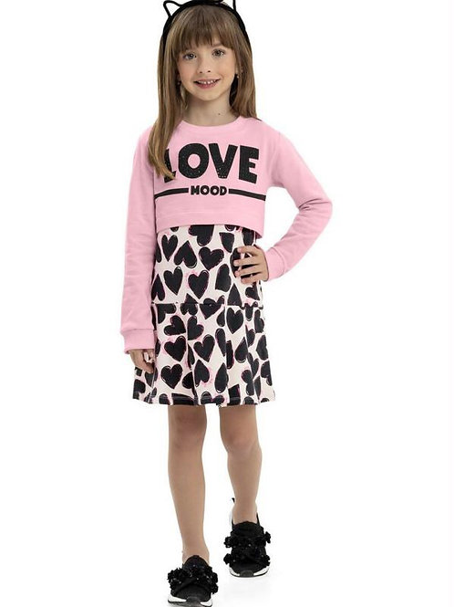 Heart Dress with Pink Love Top
