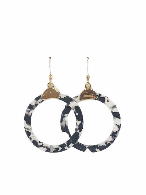 Poppy Earring - Black White