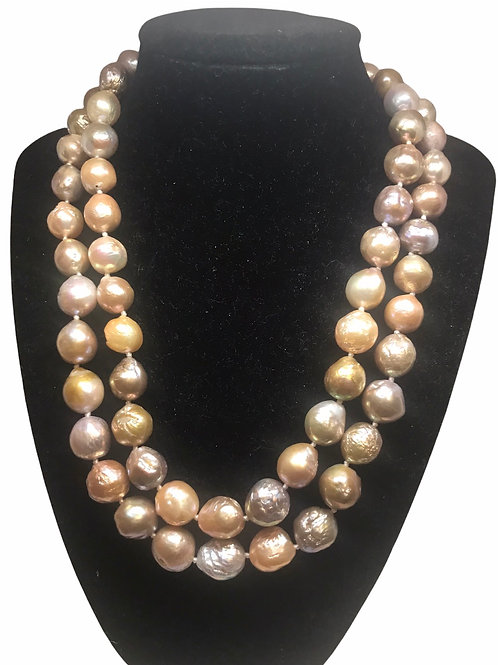 Pink Edison Pearl Double Strand