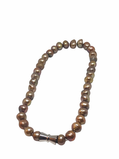 Champagne Single Strand Pearl Necklace