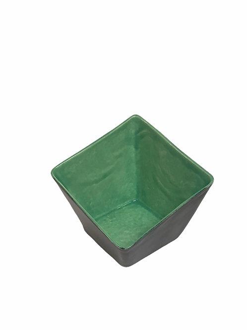 Green Slant Square Bowl
