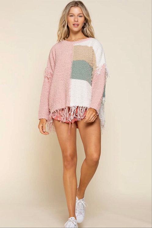 Pink Multi Sweater