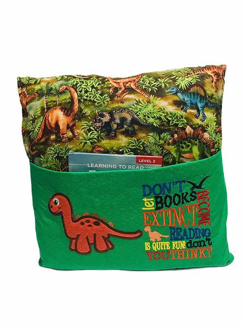 Dinosaur Book Pillow