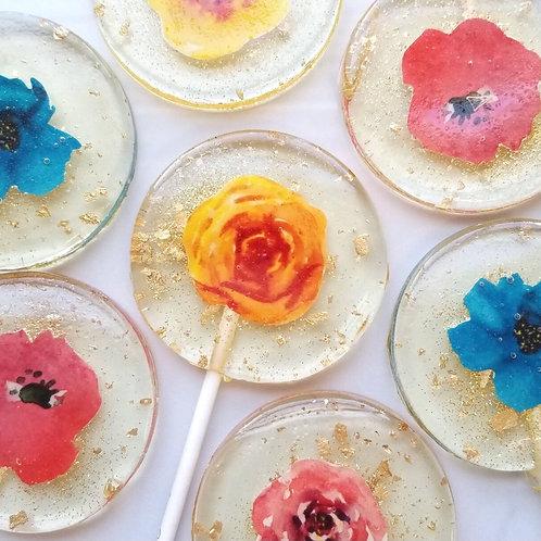 Mexican Flower Lollipops, Melon Flavor