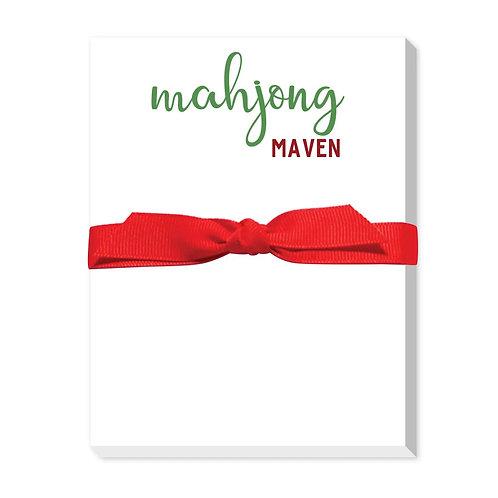 """Mahjong Maven"" Large Notepad"