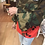 Thumbnail: Short Camo Lip Patchwork Jacket