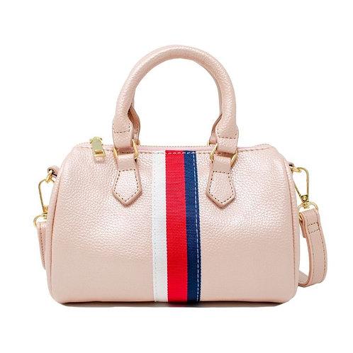 Pink Strip Bag