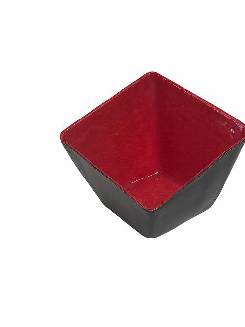 Red Slant Square Bowl