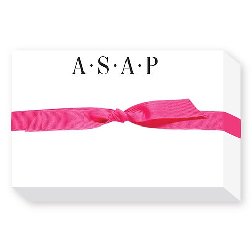 "Big and Bold Notepad ""ASAP"""