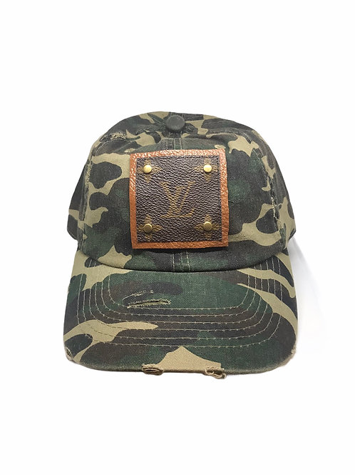 Louis Vuitton Up-Cycled Camouflage Cap