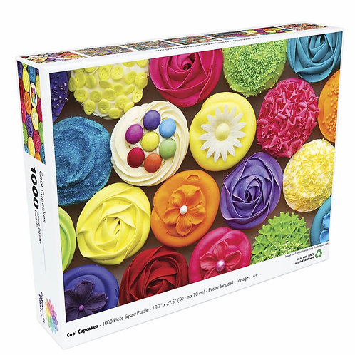 Cool Cupcakes - 1000 Piece Jigsaw Puzzle