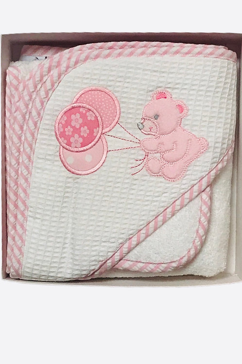 Teddy Bear Hooded Towel and Washcloth