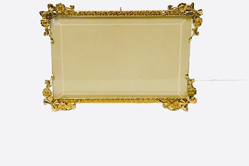 4x6 Brass Frame With Bows And Flowers