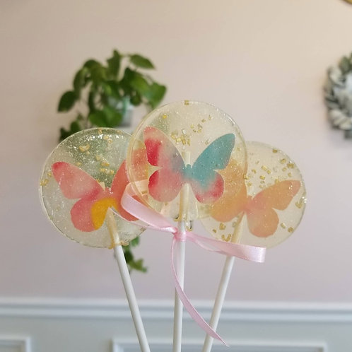 Butterfly Spring Lollipops, Guava