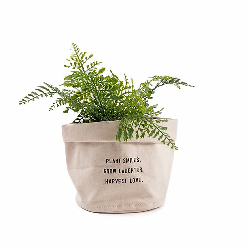 Canvas Planter Plant Smiles, Grow Laughter