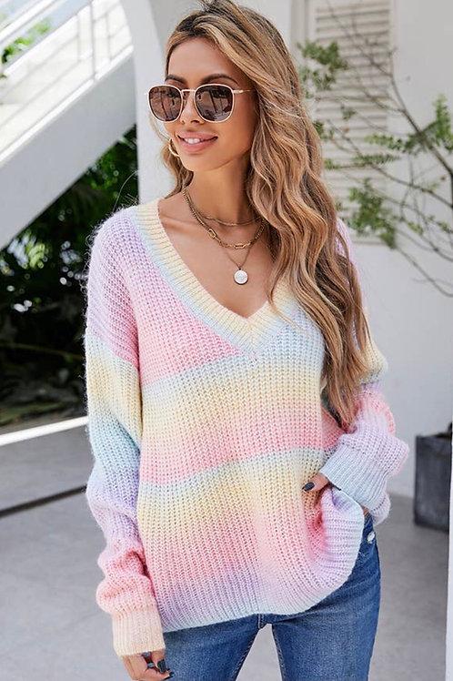 Cute Gradient Pullover Sweater