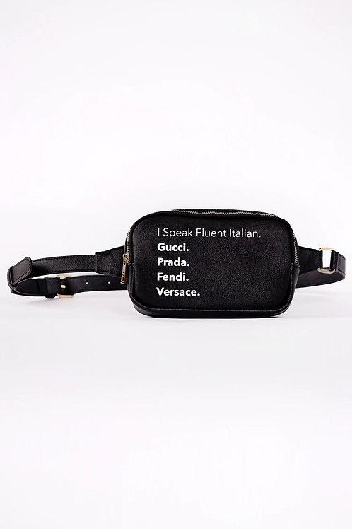 Fluent Italian Fanny Pack- Black