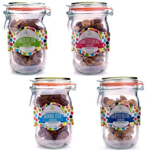 Cookie Flavors Mason Jar Pouches