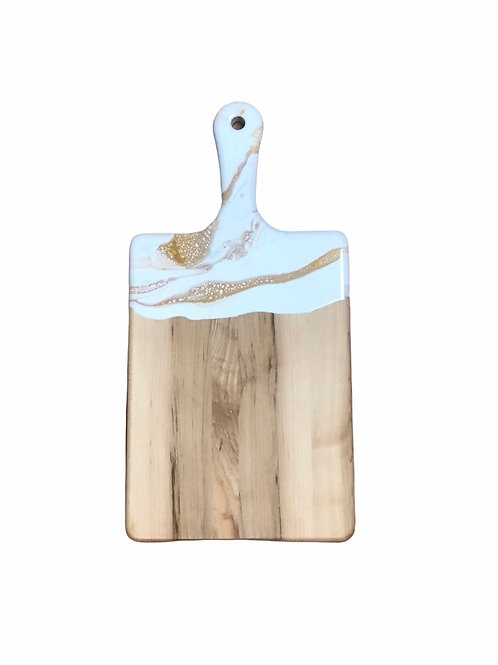 Med Cheeseboard -White/Grey/Gold