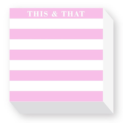 "Chubbie Notepads ""This & That"""
