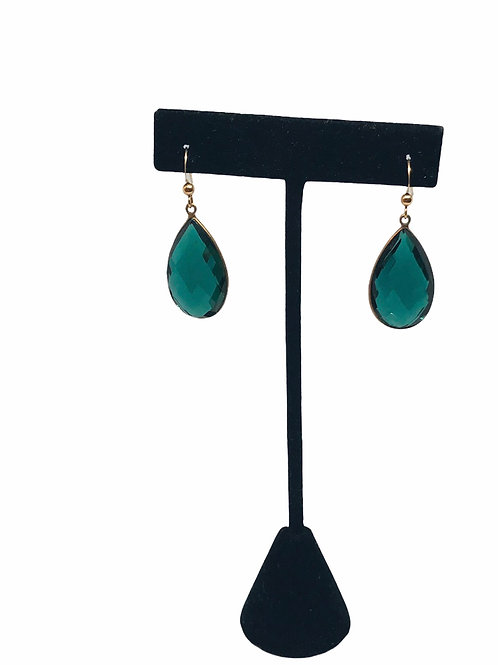 Emerald Quartz Earrings