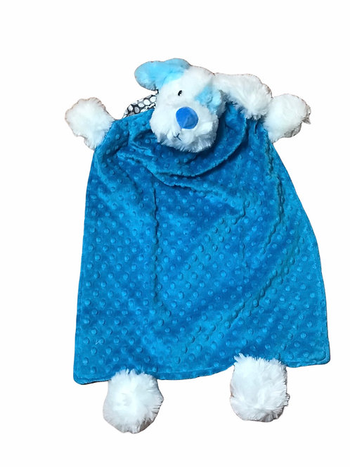 Blue and  White Patch Dog Blanket Buddy
