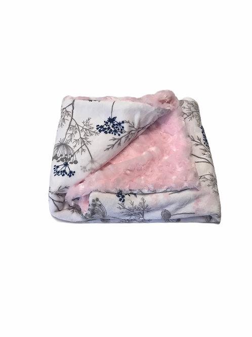Cozy Pink/Flowers Blanket
