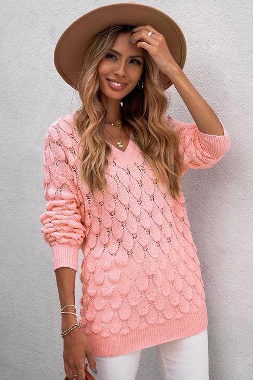 Chic Long Sleeve V-Neck Sweater