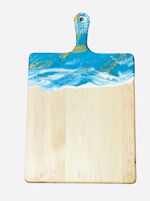 Extra Large Cheeseboard - Teal, White and Gold